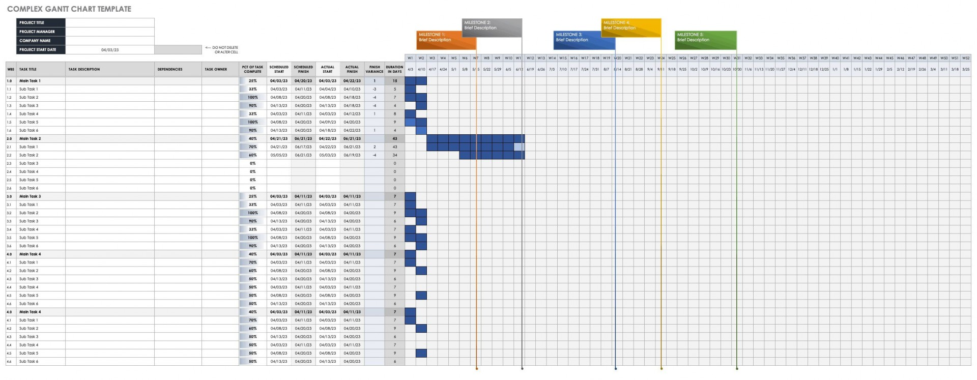 006 Fantastic Microsoft Excel Gantt Chart Template Photo  Project Planner In Simple Free Download1920