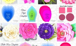 006 Fantastic Paper Flower Template Free Example  Large Extra Printable