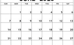 006 Fantastic Printable Calendar Template June 2020 Highest Quality  Free