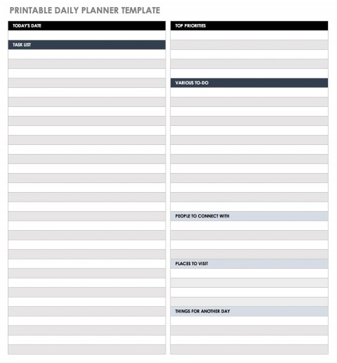 006 Fantastic Printable Daily Schedule Template Picture 480