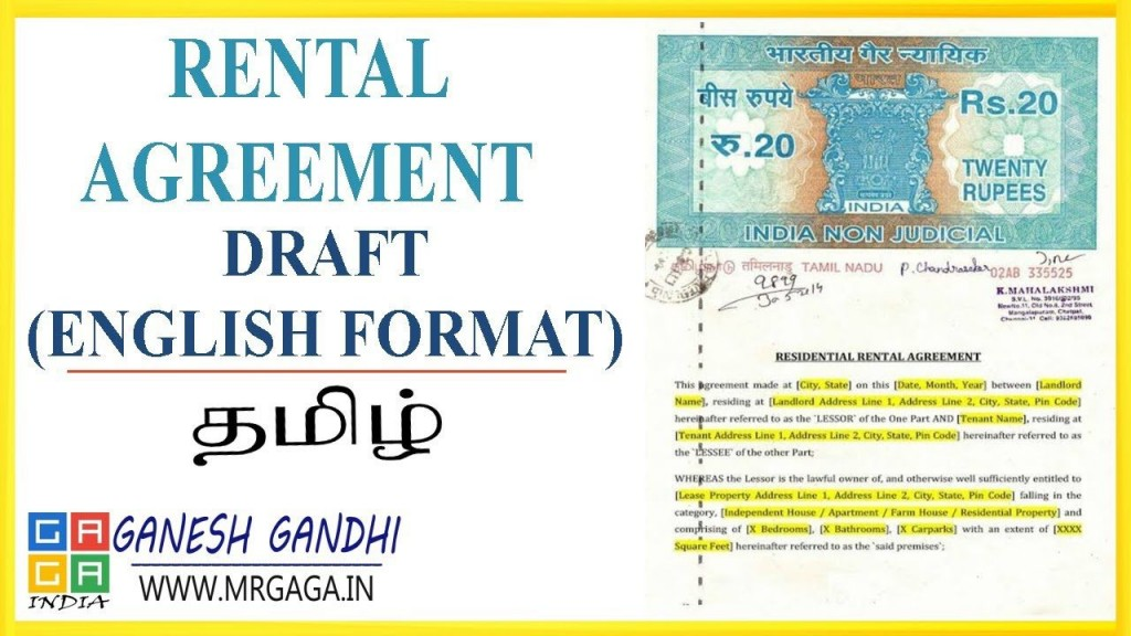 006 Fantastic Rent Lease Agreement Format India Picture  Rental Indiafiling HyderabadLarge