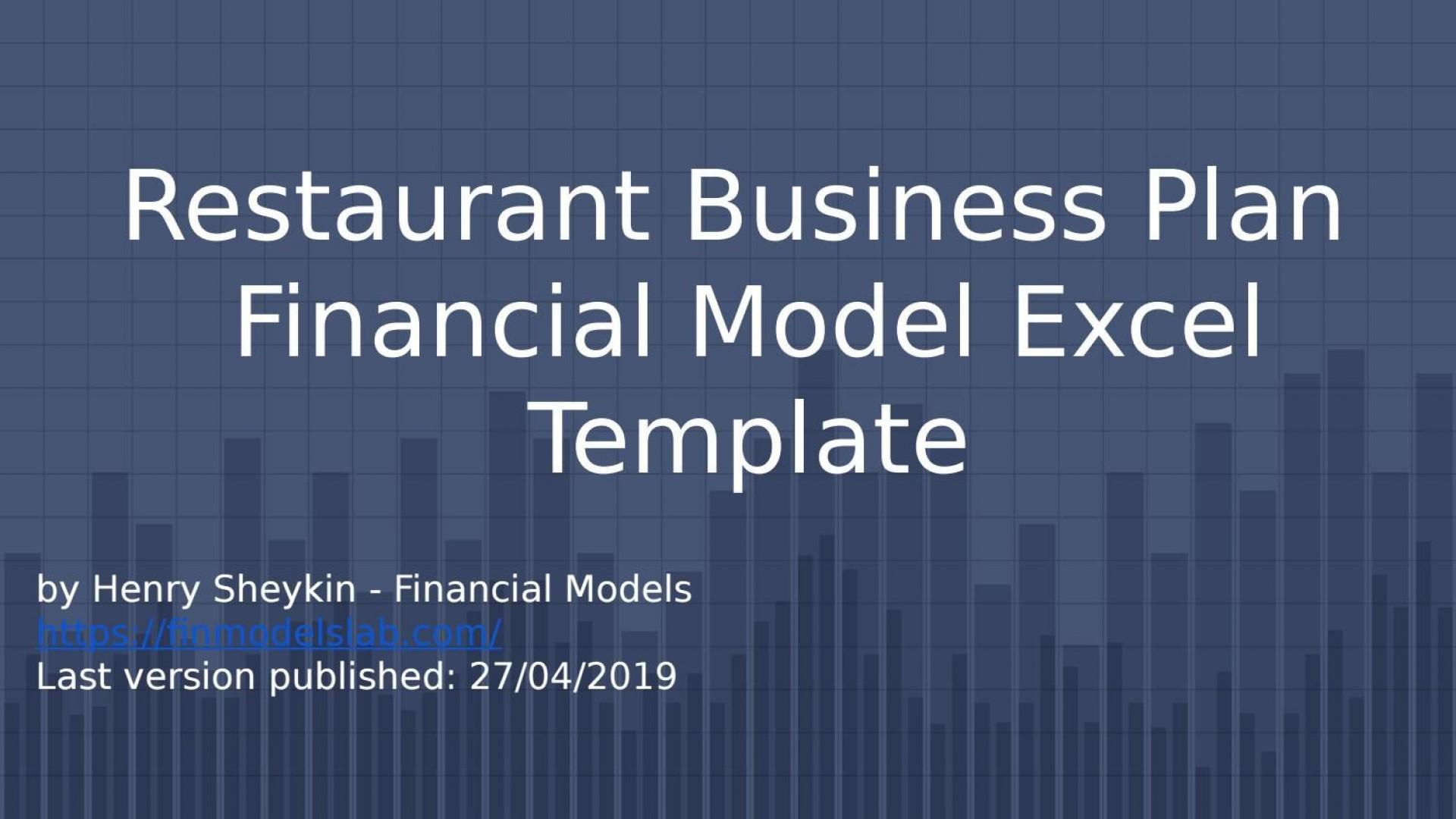006 Fantastic Restaurant Busines Plan Template Excel Photo  Free1920