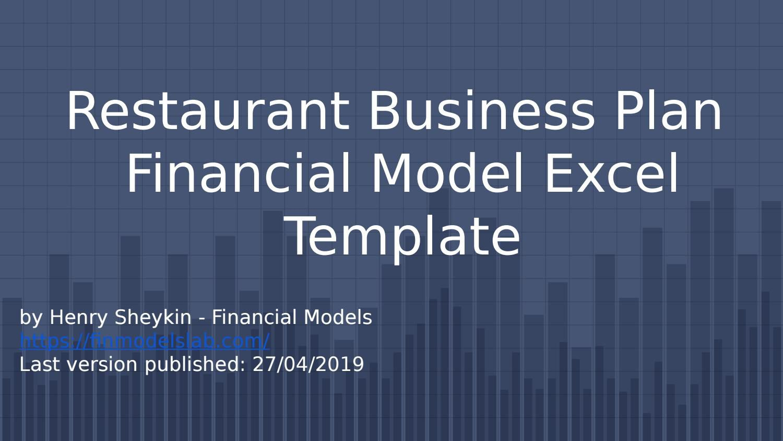006 Fantastic Restaurant Busines Plan Template Excel Photo  FreeFull