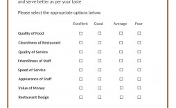 006 Fantastic Restaurant Customer Comment Card Template Idea  For Word Free