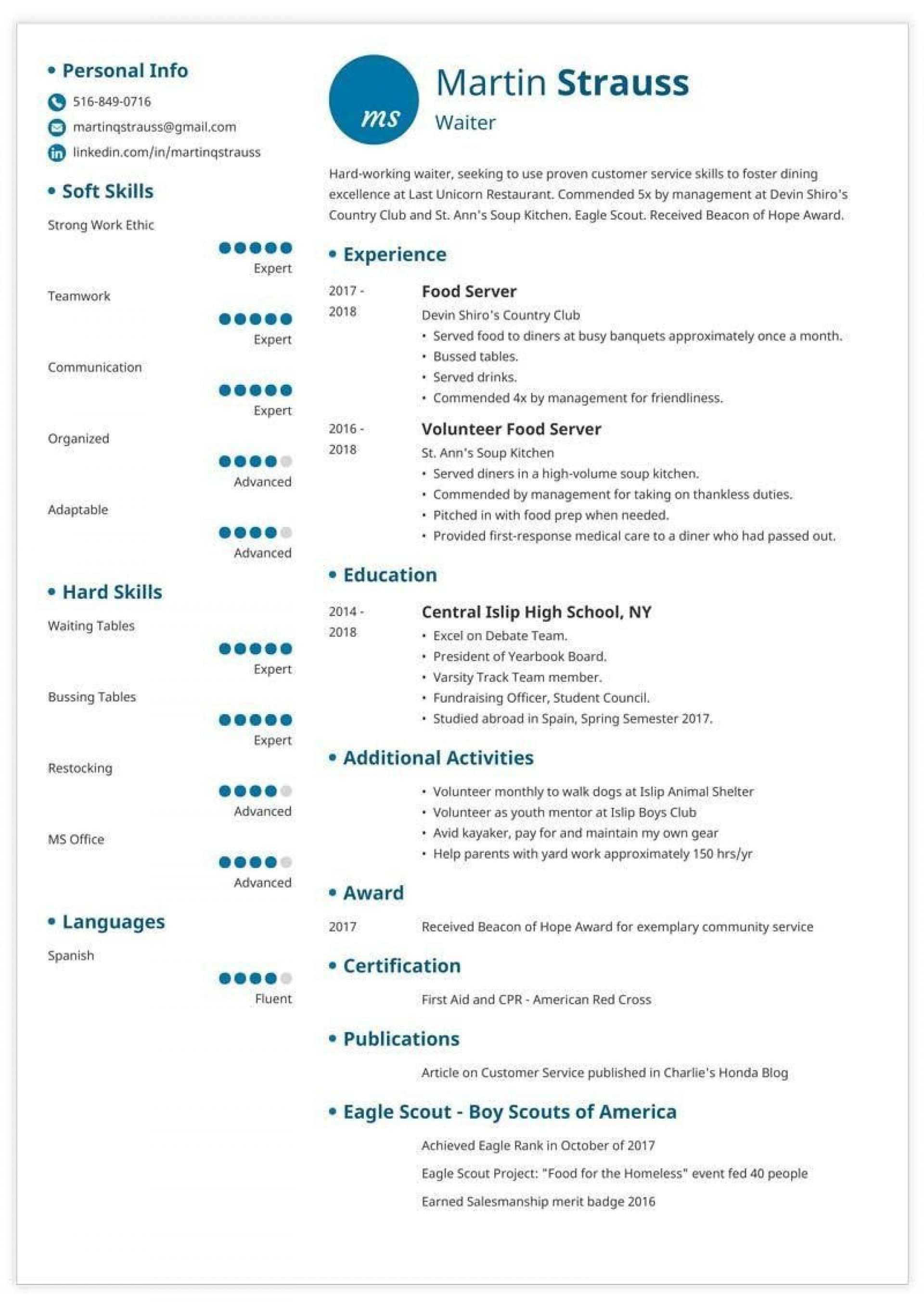 006 Fantastic Resume Template For Teen Inspiration  Teens1920