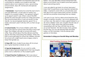 006 Fantastic School Newsletter Template Free High Def  Word Download Counselor