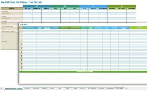 006 Fantastic Social Media Plan Template Design  Free Download Ppt Marketing Excel480