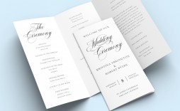 006 Fantastic Trifold Wedding Program Template Photo  Templates Tri Fold Tri-fold Publisher Free Foldable