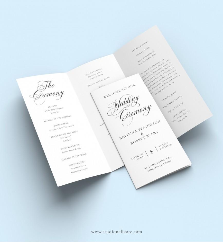 006 Fantastic Trifold Wedding Program Template Photo  Templates Tri Fold Free For Microsoft Word