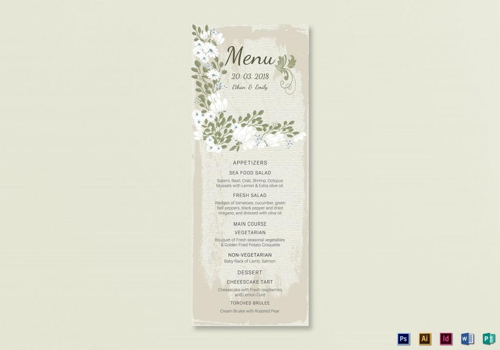 006 Fantastic Wedding Menu Card Template Word High Resolution Large