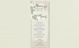 006 Fantastic Wedding Menu Card Template Word High Resolution