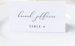 006 Fantastic Wedding Name Card Template Picture  Table Place Free Seating