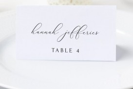 006 Fantastic Wedding Name Card Template Picture  Seating Chart Place Free
