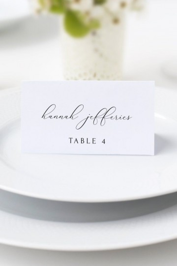 006 Fantastic Wedding Name Card Template Picture  Seating Chart Place Free360