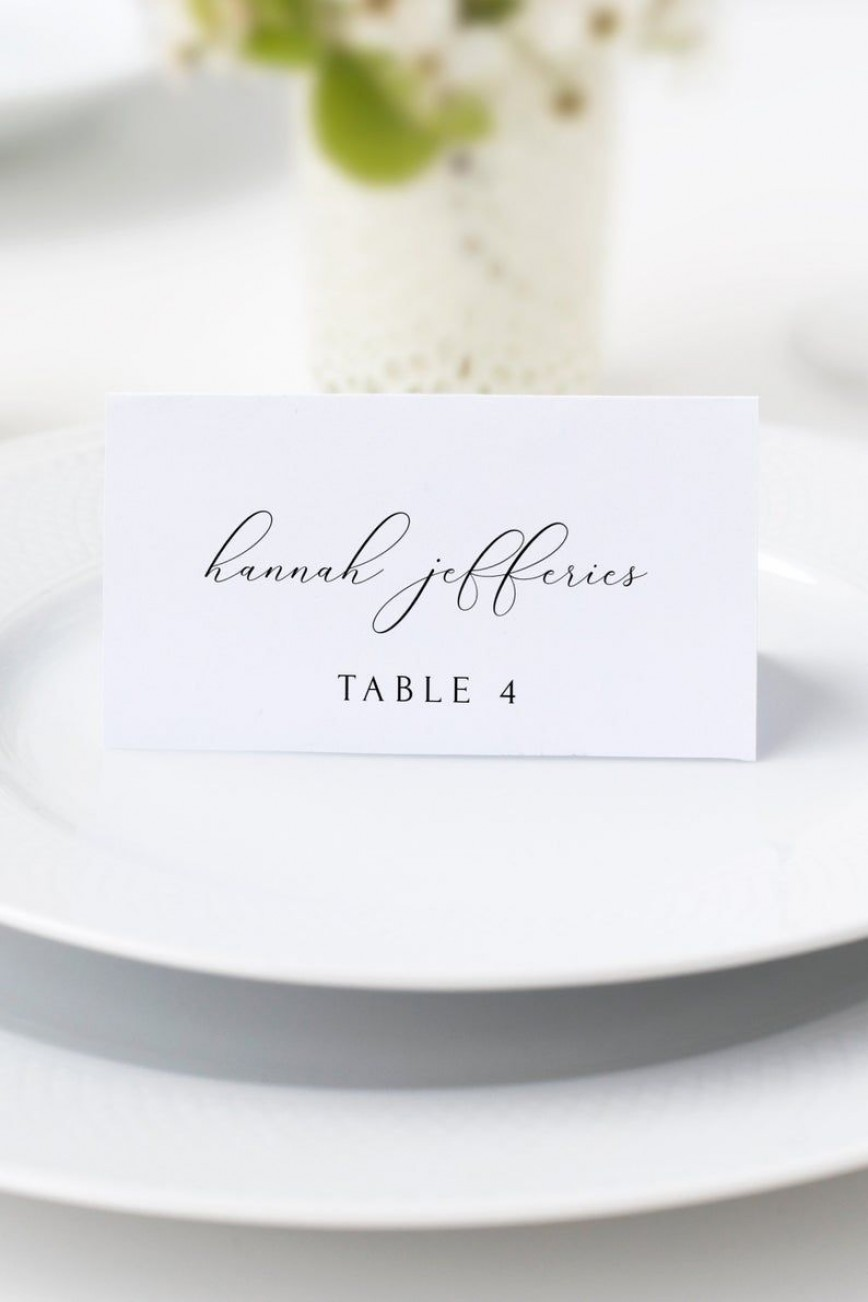 006 Fantastic Wedding Name Card Template Picture  Seating Chart Place Free868