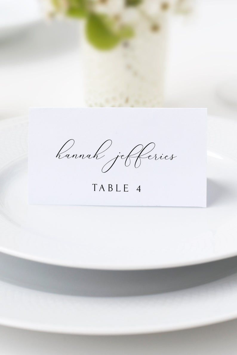 006 Fantastic Wedding Name Card Template Picture  Seating Chart Place FreeFull
