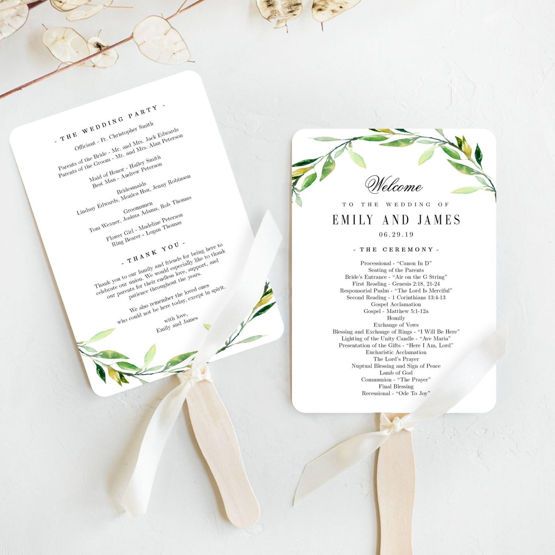 006 Fantastic Wedding Program Template Free Photo  Fan Download Elegant1920