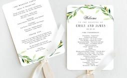 006 Fantastic Wedding Program Template Free Photo  Fan Download Elegant