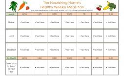 006 Fantastic Weekly Meal Plan Example Sample  Examples 1 Week Template One