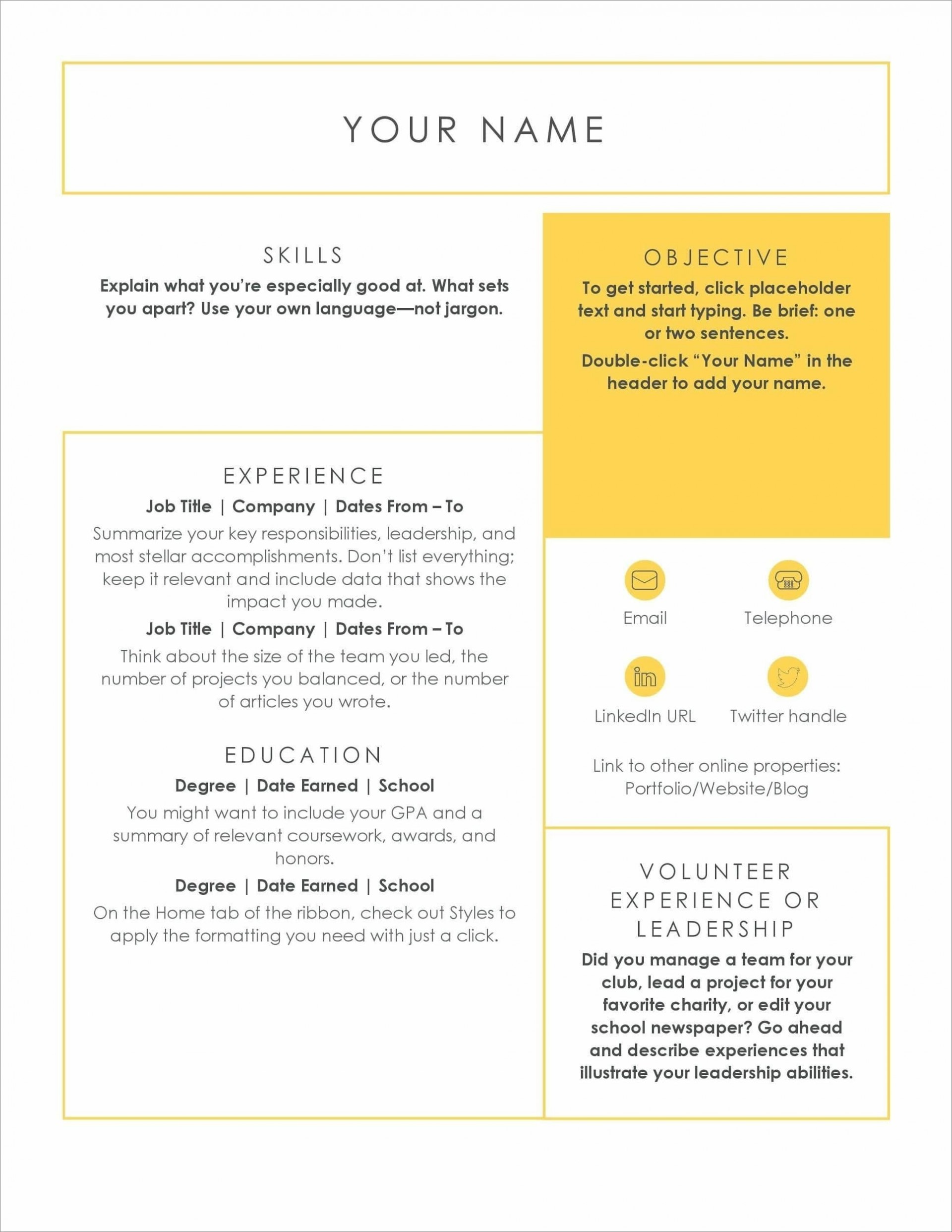 Online Resume Template from www.addictionary.org