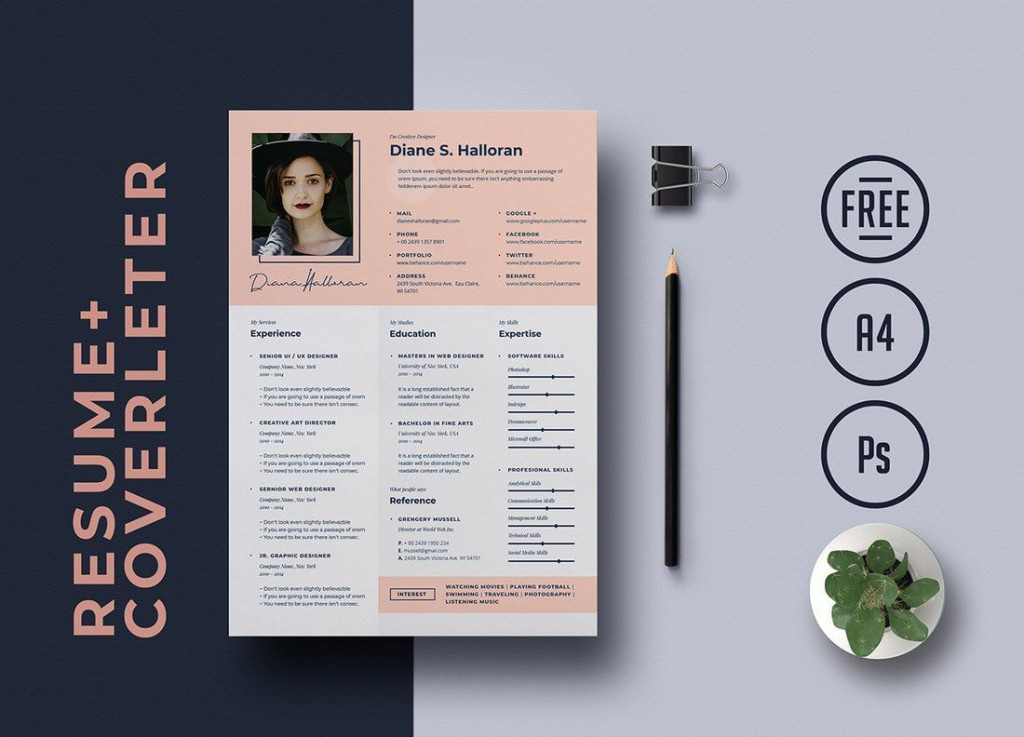 006 Fascinating Best Free Resume Template 2020 High Definition  Word ReviewLarge