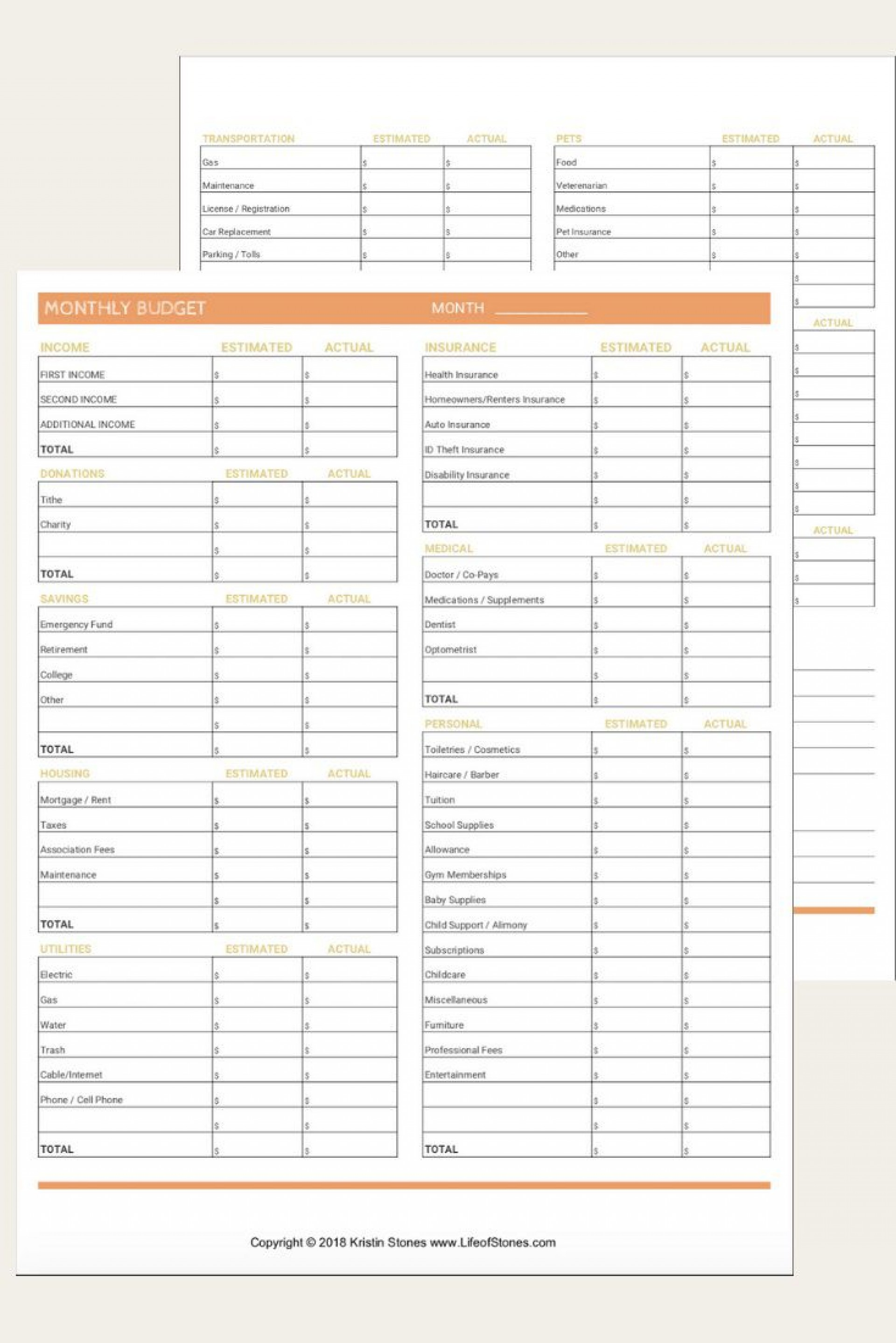 006 Fascinating Free Blank Monthly Budget Template High Definition  Editable Downloadable Printable1920
