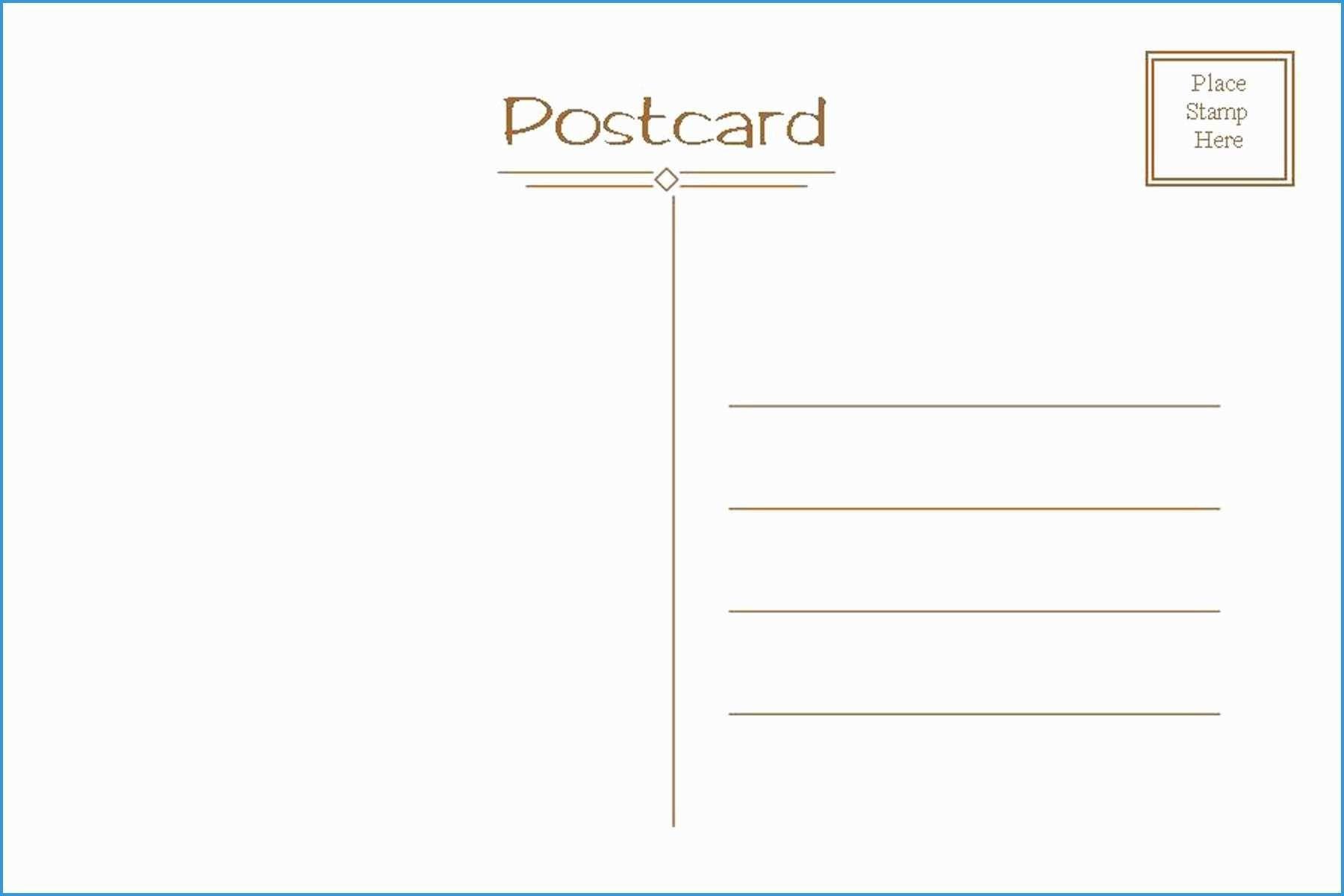 006 Fascinating Free Postcard Template Download Microsoft Word Example Full