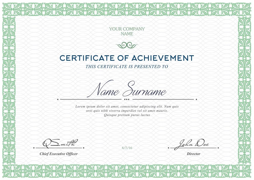 006 Fascinating Free Printable Certificate Template Highest Quality  Blank Gift For Word Pdf868
