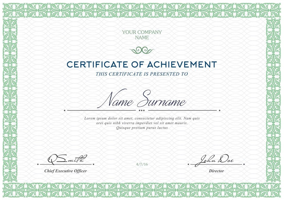006 Fascinating Free Printable Certificate Template Highest Quality  Blank Gift For Word Pdf960