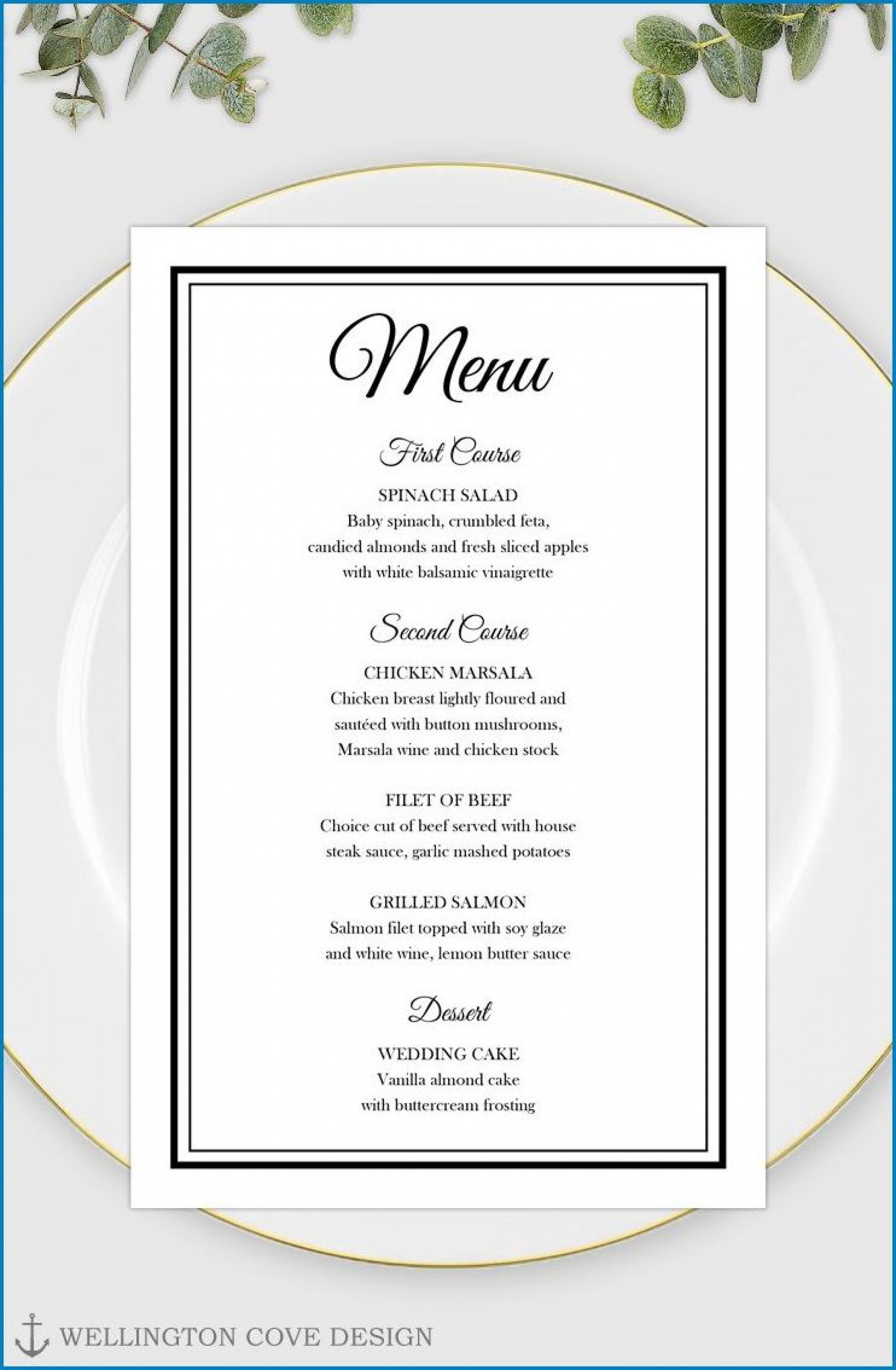 006 Fascinating Free Printable Menu Template Design  For Dinner Party Family1920