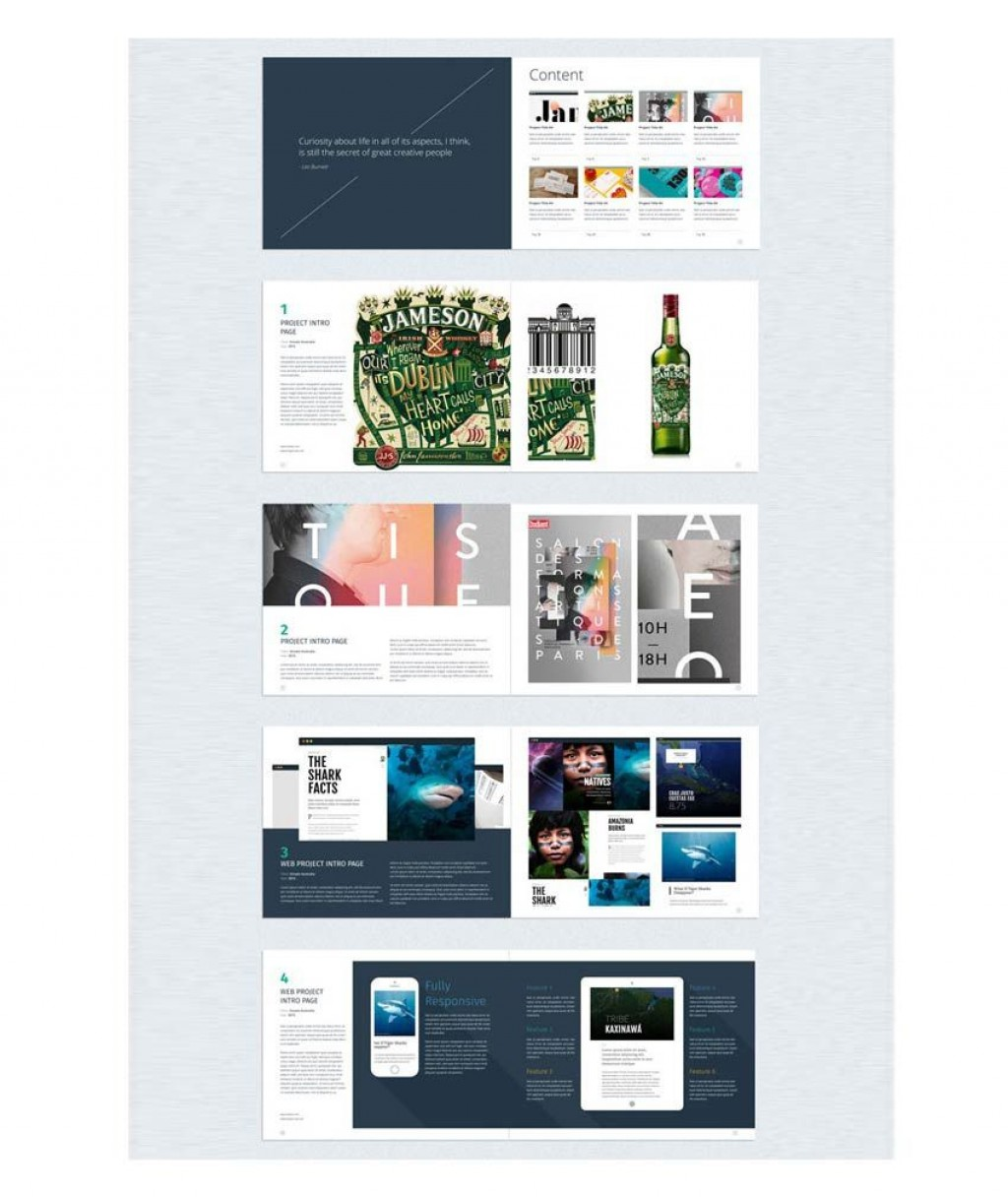 006 Fascinating In Design Portfolio Template Inspiration  Templates Interior Layout Indesign FreeLarge