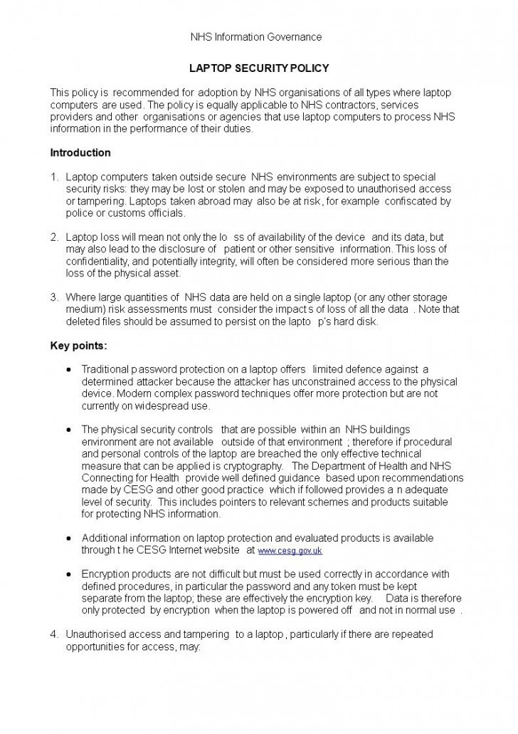 006 Fascinating It Security Policy Template Highest Clarity  Download Free For Small Busines Pdf728