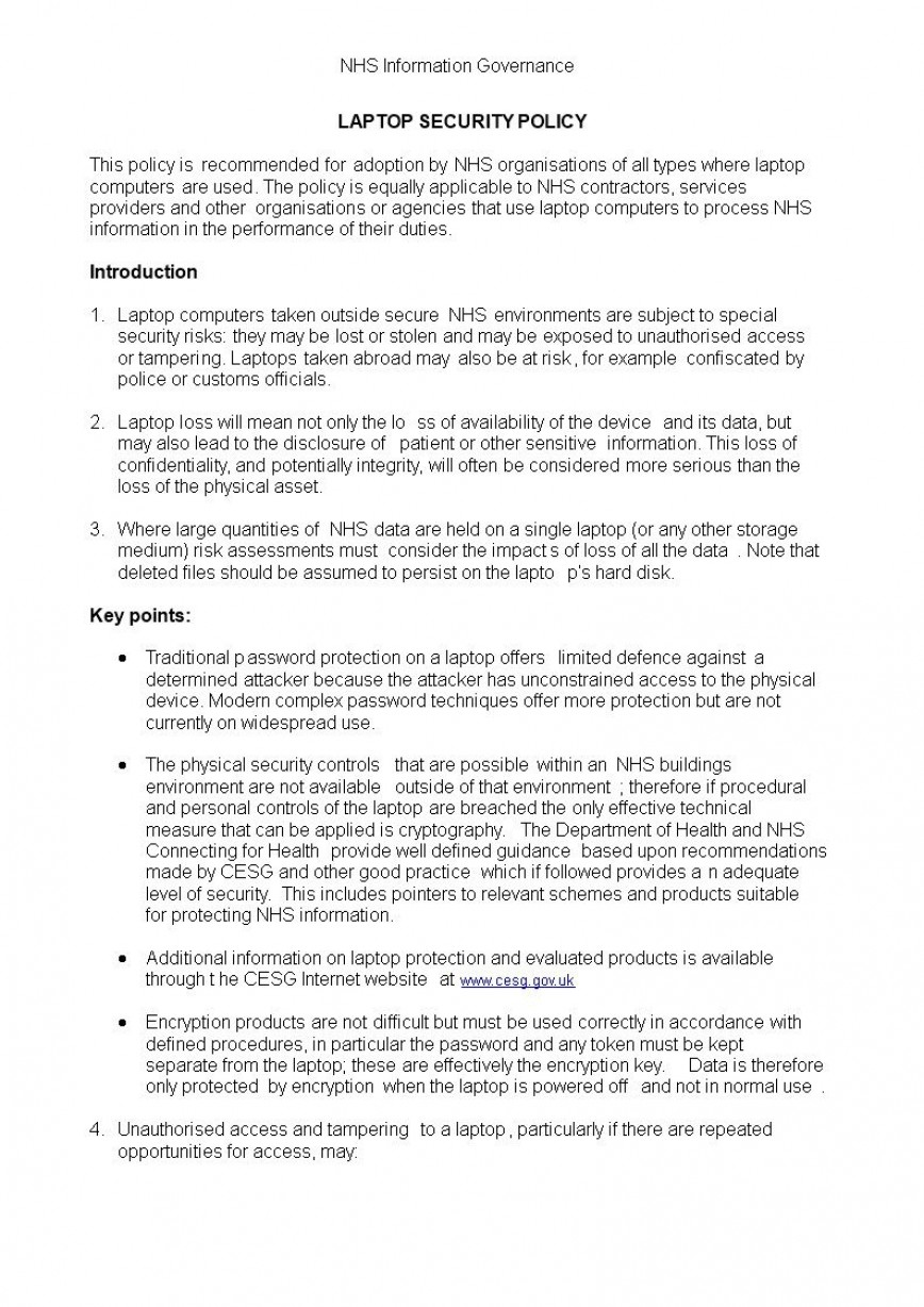 006 Fascinating It Security Policy Template Highest Clarity  Download Free For Small Busines Pdf868
