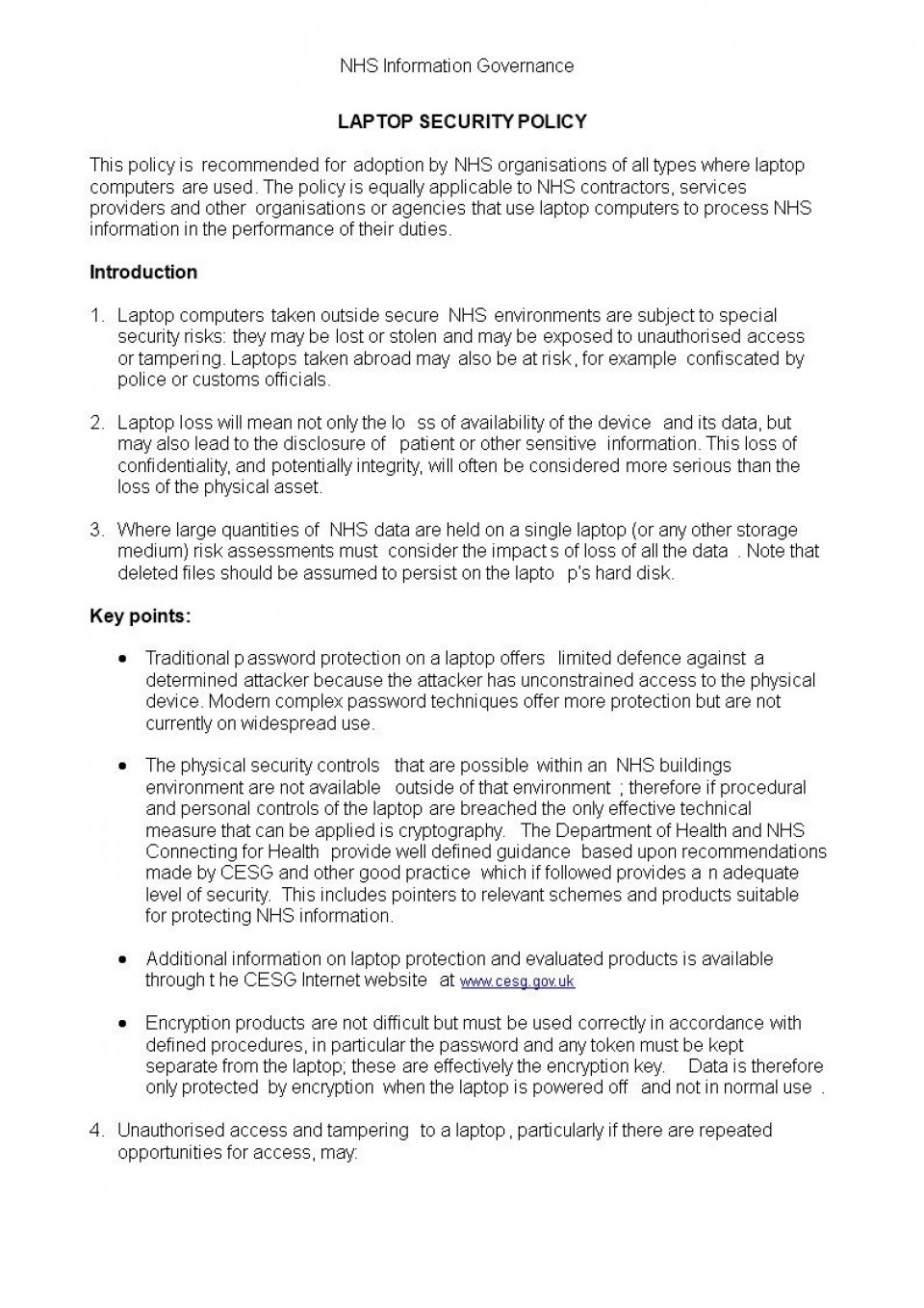 006 Fascinating It Security Policy Template Highest Clarity  Download Free For Small Busines Pdf960