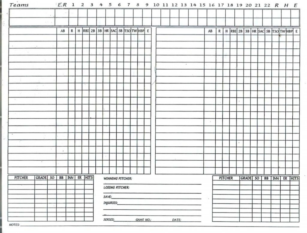 006 Fascinating Little League Lineup Card Template High Definition  BaseballLarge