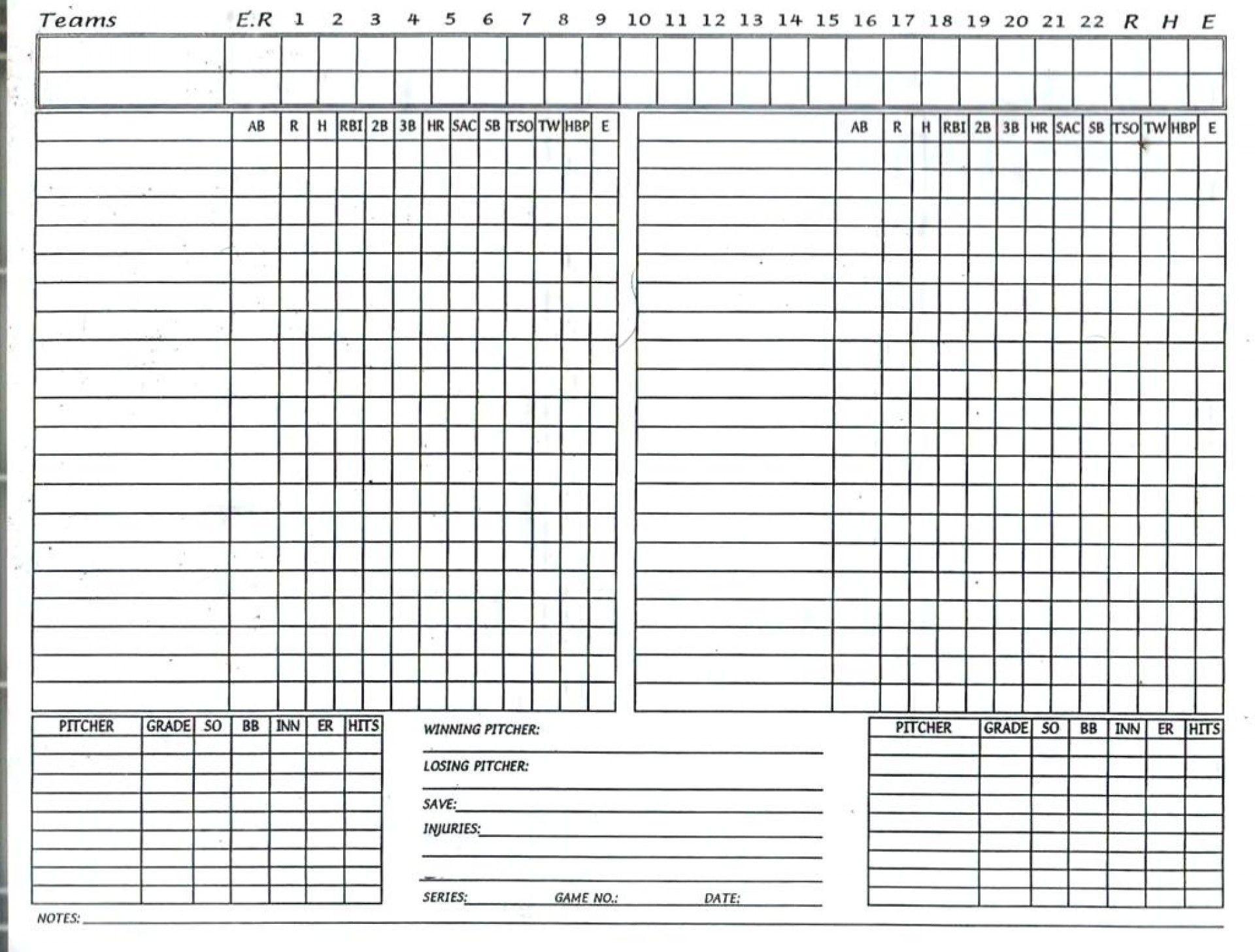 006 Fascinating Little League Lineup Card Template High Definition  Baseball1920