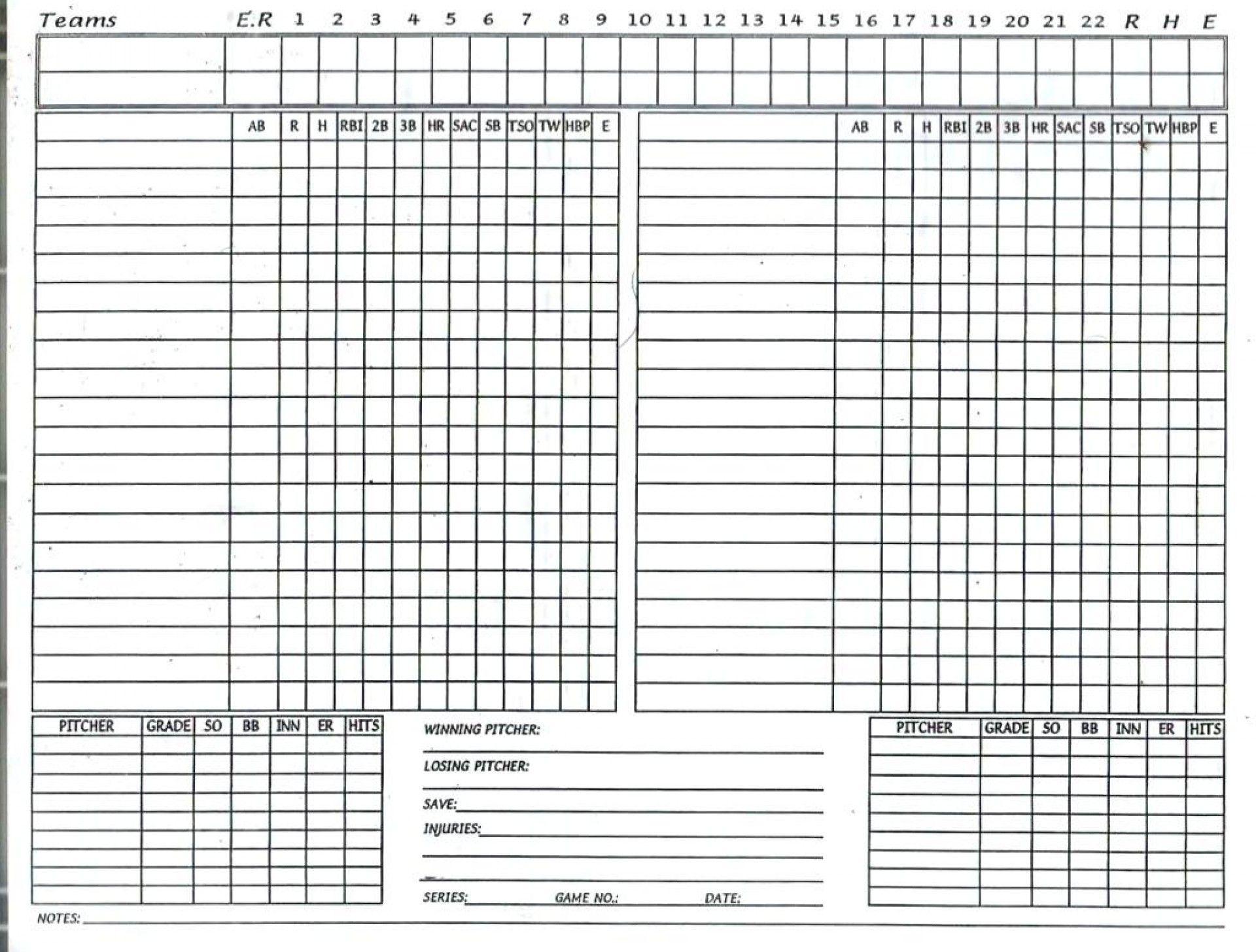 006 Fascinating Little League Lineup Card Template High Definition  BaseballFull
