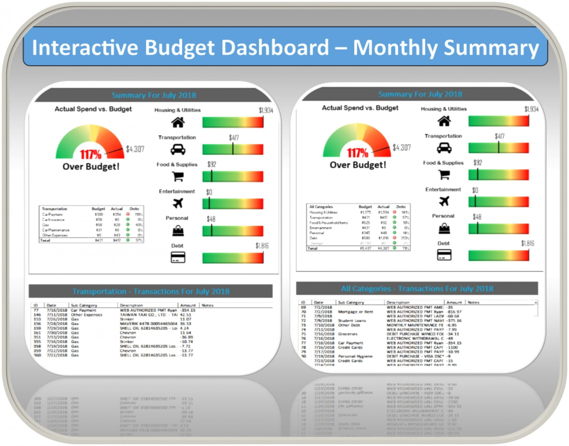 006 Fascinating Monthly Budget Template Excel 2007 Highest Clarity  Personal1920