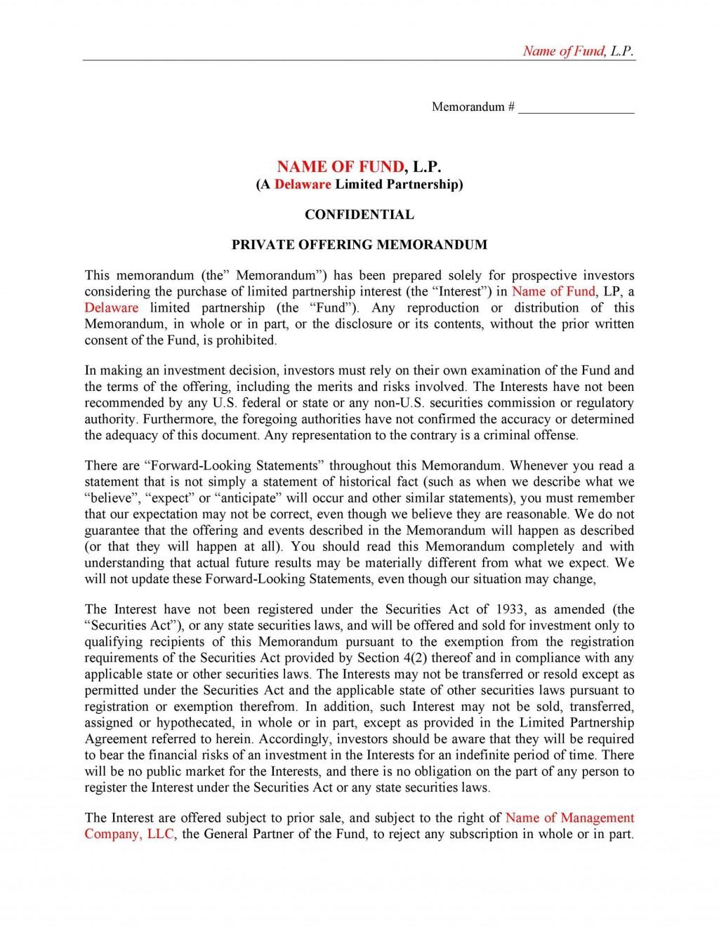 006 Fascinating Private Placement Memorandum Sample High Definition  Samples Template Singapore PdfLarge