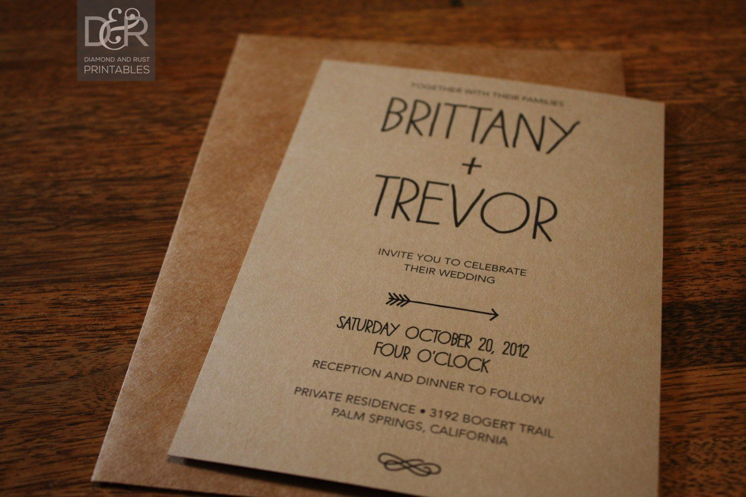 006 Fascinating Rustic Wedding Invitation Template Example  Templates Free For Word Maker PhotoshopFull