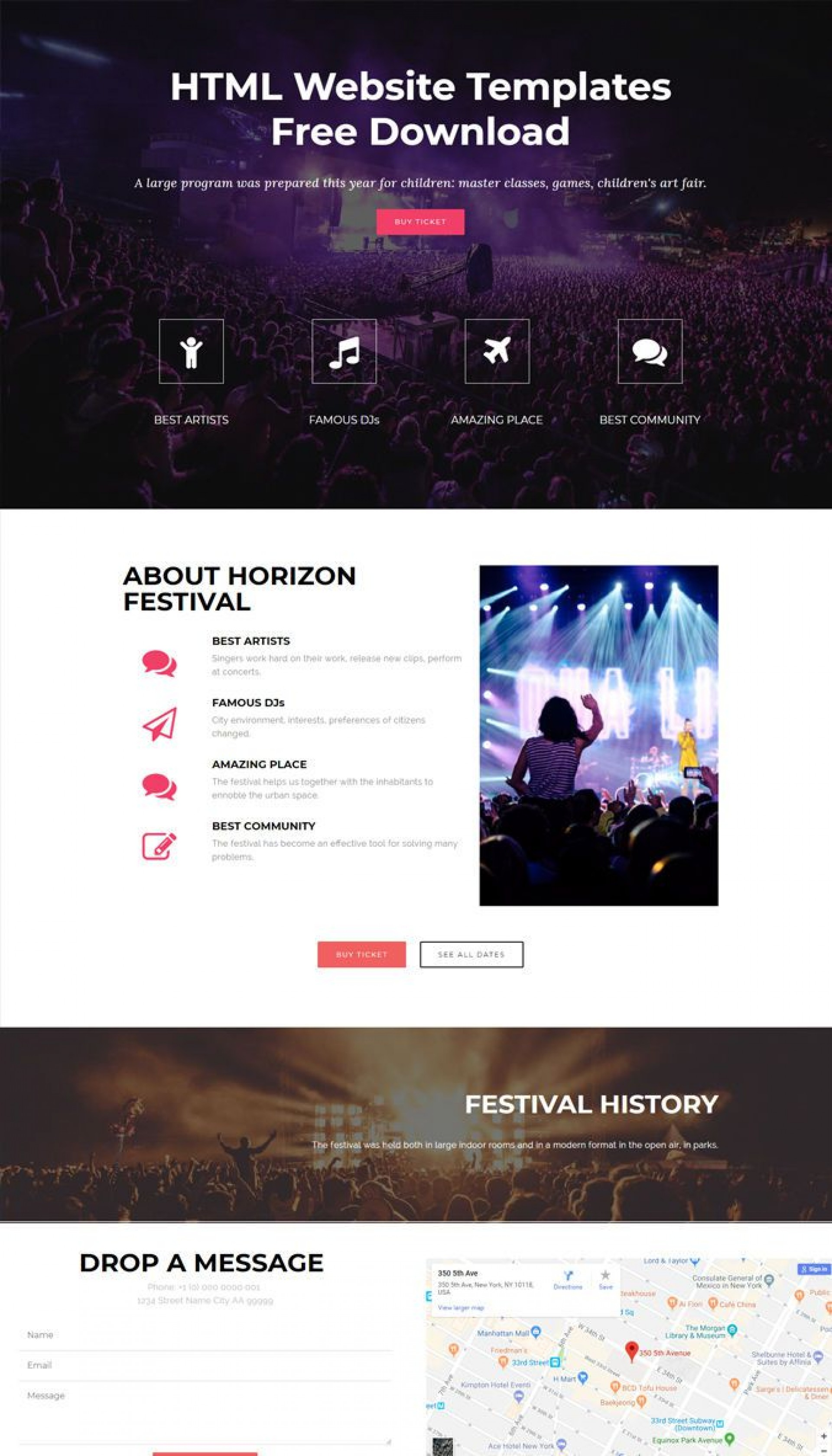 006 Fascinating Simple Html Web Template Free Download Inspiration  Website With Cs Bootstrap Without1920