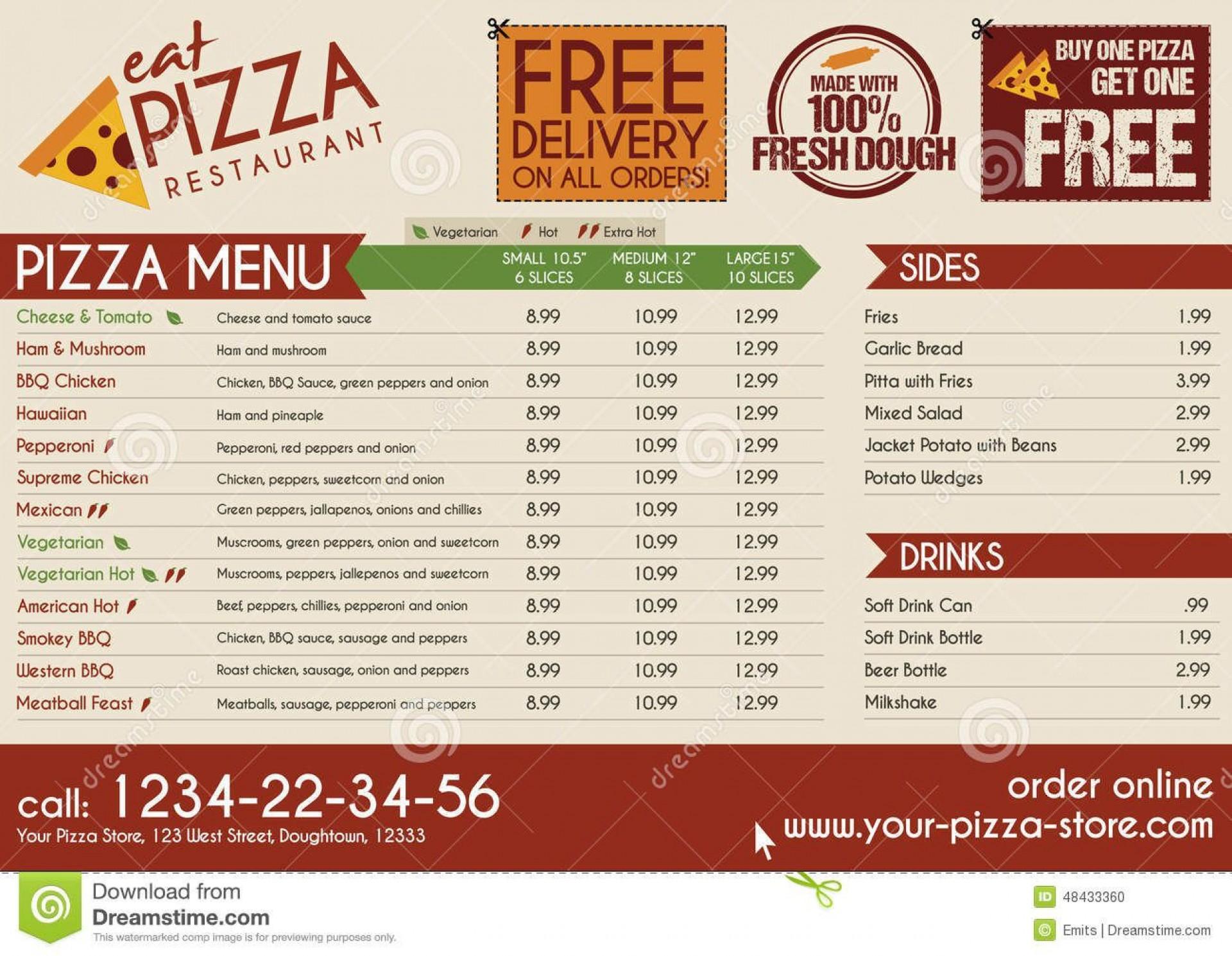 006 Fascinating Take Out Menu Template Idea  Tri Fold Free Word Restaurant Away1920