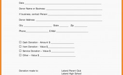 006 Fascinating Tax Donation Form Template Picture  Ir Charitable Receipt Deductible Example