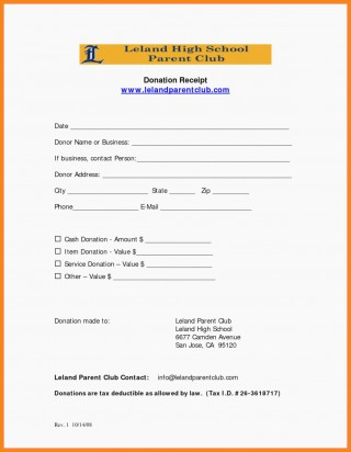 006 Fascinating Tax Donation Form Template Picture  Charitable Sample Letter Ir Receipt For Purpose320