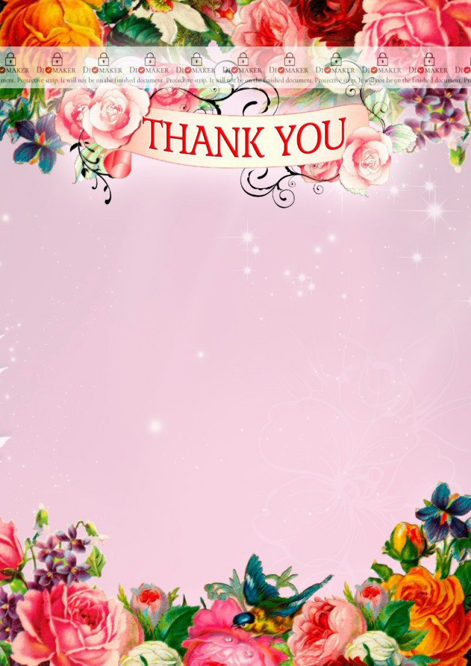 006 Fascinating Thank You Card Template Example  Wedding Busines Word Free960