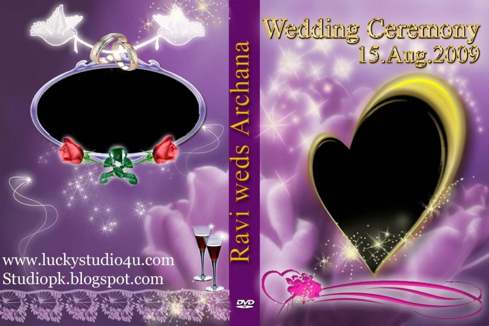 006 Fascinating Wedding Cd Cover Design Template Free Download Picture 960