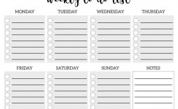 006 Fascinating Weekly Todo List Template Picture  To Do Pinterest Task Excel Daily Pdf