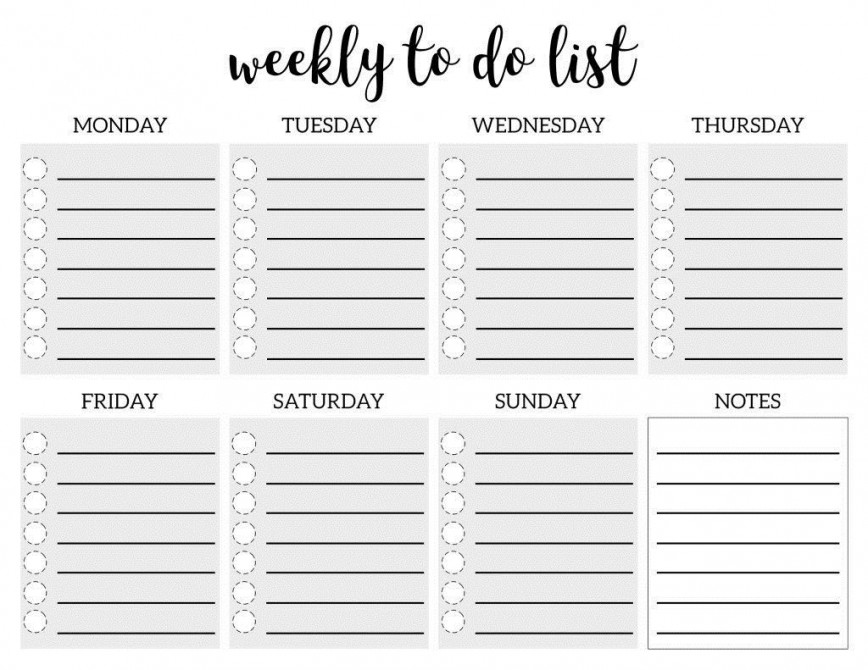 006 Fascinating Weekly Todo List Template Picture  To Do Pinterest Printable Pdf Excel Xl