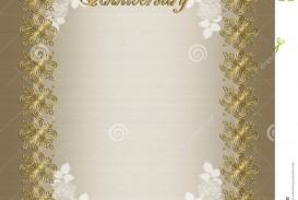 006 Fearsome 50th Anniversary Invitation Template Idea  Wedding Microsoft Word Free Download