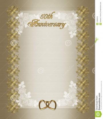 006 Fearsome 50th Anniversary Invitation Template Idea  Wedding Microsoft Word Free Download360